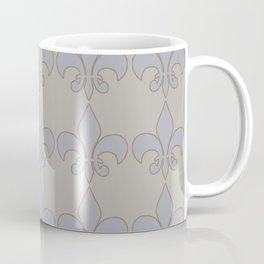 Fleur de lis....blue /orange color harmony neutral Coffee Mug