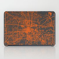 houston iPad Cases featuring Houston map by Map Map Maps