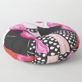 Pink Rock Girl Floor Pillow