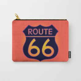 Travel USA sign of Route 66 label. American road icon. Carry-All Pouch