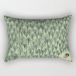 Forest house pattern Rectangular Pillow
