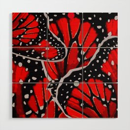 red monarch Wood Wall Art