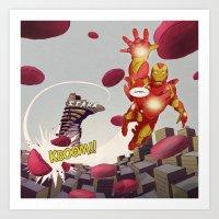 Ironman - 'Google's World - M.E' Art Print