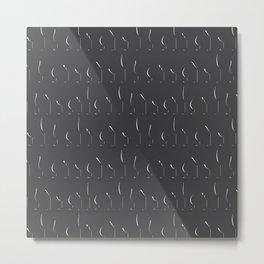 Glass Silhouettes Metal Print
