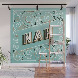 Nah – Mint & Rose Gold Palette Wall Mural