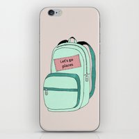 backpack iPhone & iPod Skins featuring Backpack by Mrs. Ciccoricco