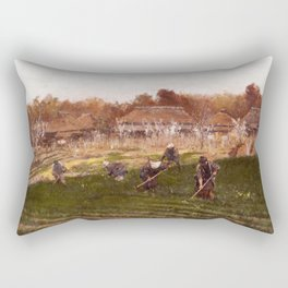 Asai Chu - Spring Ridge Rectangular Pillow