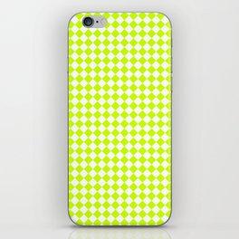 Small Diamonds - White and Fluorescent Yellow iPhone Skin