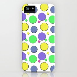 PASTEL CIRCUS CIRCLES  iPhone Case