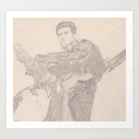 Terminator 2 minigun Art Print