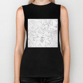 Asiatic Lillies I line art Biker Tank