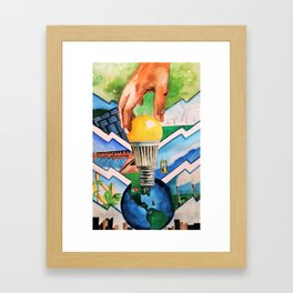 Protecting the Environment Framed Art Print