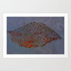 Autum Leaf Art Print
