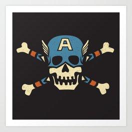 Captain 'Jolly' Rogers  Art Print