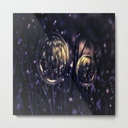 Dropping Bubbles Metal Print