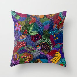 Spring Cleanup Zendoodle Throw Pillow