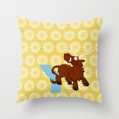 y for yale Throw Pillow
