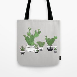 Cactus Love (in gray) Tote Bag