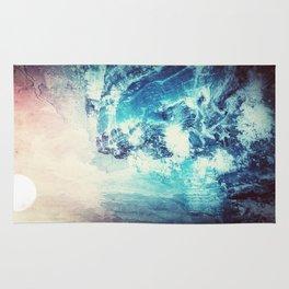 Blue Crashing Wave // Lunar Ocean Storm // Surreal Space Rug
