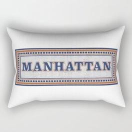 NY Subway Mosaic Manhattan Rectangular Pillow
