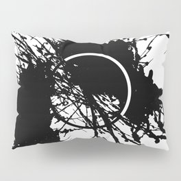 Form Out Of Chaos - Black and white conceptual abstract Pillow Sham