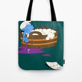 SUICIDAL SMURF  Tote Bag