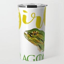 Just a Girl Who Loves Dragons Bearded Dragon Lizard  Travel Mug
