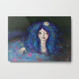 Women in Water Metal Print
