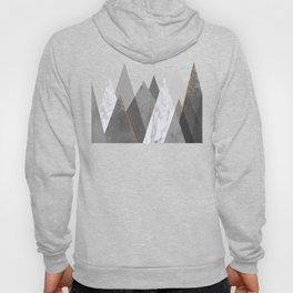 Marble Gray Copper Black and White Mountains Hoody