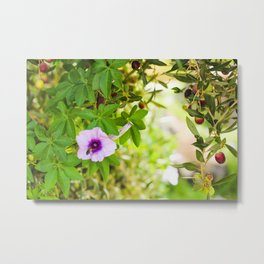 Flowers, olives and bees Metal Print
