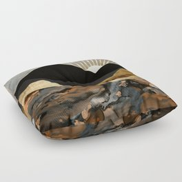 Copper and Gold Mountains Floor Pillow