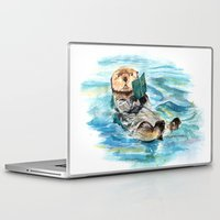 otter Laptop & iPad Skins featuring Otter by Anna Shell