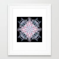 snowflake Framed Art Prints featuring Snowflake. by Assiyam