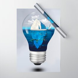Iceburg in a Light Bulb Wrapping Paper