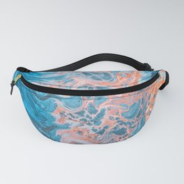 Blue Watercolor Fanny Pack