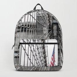 The Brooklyn Bridge and American Flag Backpack