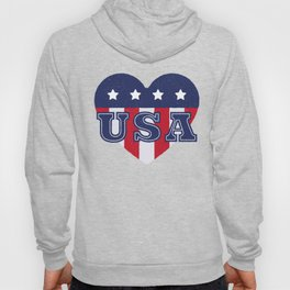 4th Of July Independence Day Heart USA Hoody
