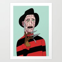 freddy krueger Art Prints featuring Freddy Krueger by Elena Éper
