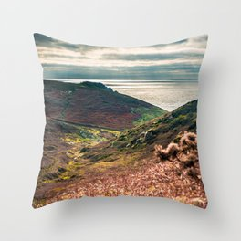 Cornish seascape, Landscape photography, Giclee print, Nautical wall decor, secret beach, Nanjizal Throw Pillow