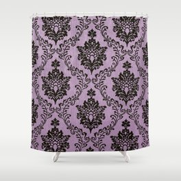 Pink Damask pattern,chic,elegant,great Gatsby,belle epoque,trending,fan pattern,victorian,modern pa Shower Curtain