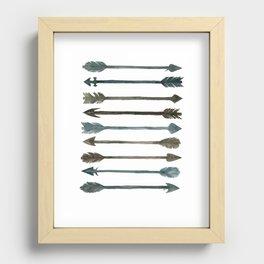 Somber Arrows Recessed Framed Print