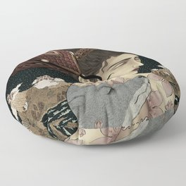 Serenity of chaos Floor Pillow