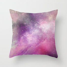 Nebula: Pink Bubblegum Throw Pillow