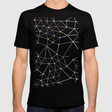 Seg with Color Spots Mens Fitted Tee MEDIUM Black