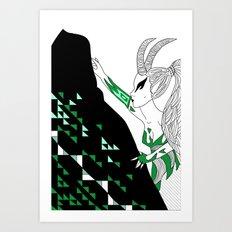 Capricorn / 12 Signs of the Zodiac Art Print