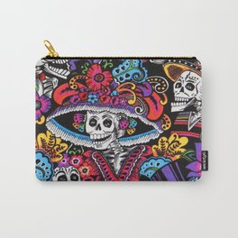 Skull with hat Carry-All Pouch