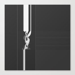Modern Black and White Pattern Abstract Canvas Print