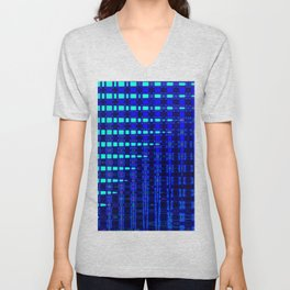 Blue in Shadows Unisex V-Neck