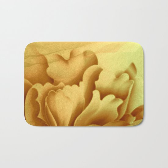 peach veiled flower Bath Mat