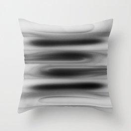 Black to white Throw Pillow